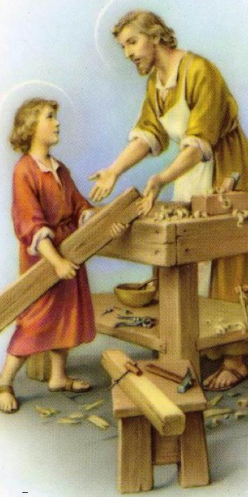 1er MAI : SAINT JOSEPH, TRAVAILLEUR ACHARNE